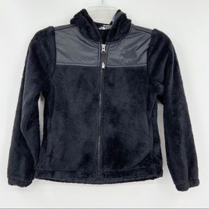 THE NORTH FACE Girls Black Hooded Fleece Jacket